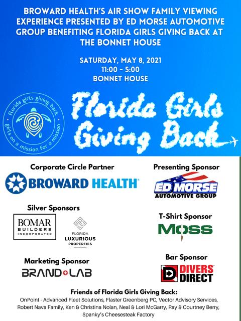 florida girls giving back sponser flyer